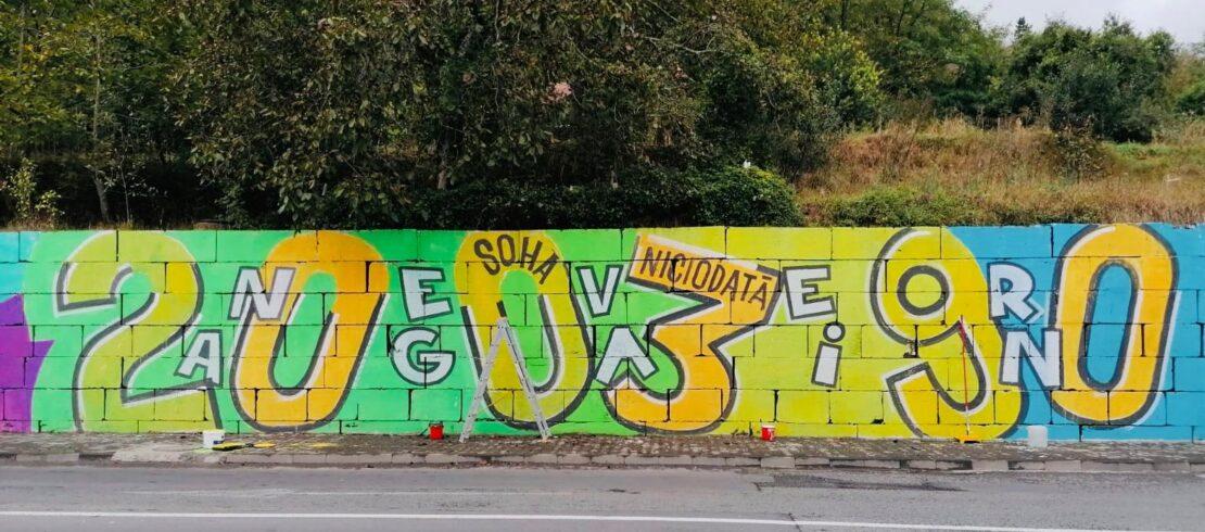 Pictura murală, marca IRLO, de pe strada Cutezanței @Metamorfoze2